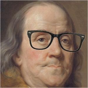 Hipster Ben Franklin